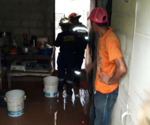 Lluvias provocaron emergencias en 38 casas de la ciudad.