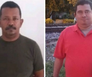 El confeso homicida, Alfonso Arrieta y el abogado, Cesar Cadena Tejada.