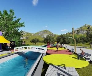 Este es el render del proyecto de balneario turístico en Aracataca.