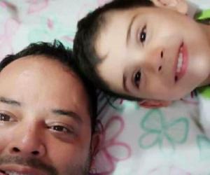 Alcalde de El Carmen y su hijo, Cristo José.