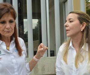 Gobernadora, Rosa Cotes y Mallath Martínez, alcaldesa de Fundación.