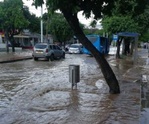 Calles de Santa Marta inundadas.