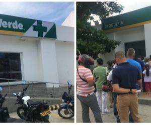 Usuarios de Colsanitas debe hacer largas filas para reclamar medicamentos en dispensario Cruz Verde.