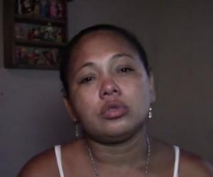 Jeymy Vizcaíno, madre de la pequeña Génesis Rúa.