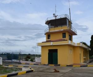 Aspecto del aeropuerto Las Flores de El Banco.