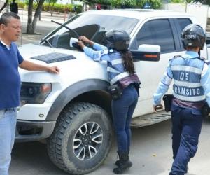 Operativos desarrollados por agentes de tránsito del Distrito.