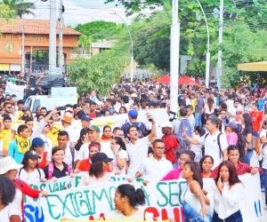 Los estudiantes de Unimagdalena se declararon en paro.