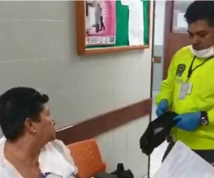 Mujer capturada con droga en sus genitales.