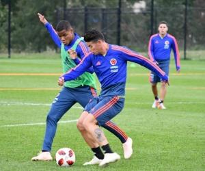 Entrenamiento de la selección Colombia.
