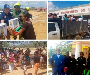 La población afectada está recibiendo las ayudas del Gobierno Nacional.