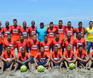 Seleciones Colombia de fútbol playa, sub 20 y mayores.