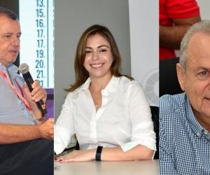 César Riascos, Verónica Monterrosa y Ricardo Plata.