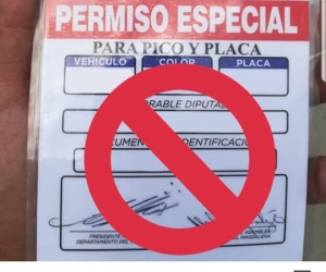 Este es el supuesto permiso expedido por la Gobernación.