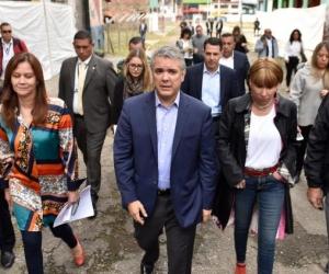 El presidente Duque acompañó al alcalde de Bogotá en el lanzamiento de la convocatoria del nuevo Bronx Distrito Creativo.
