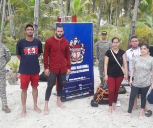 Los seis migrantes que pretendían llegar a Nicaragua en condición irregular.