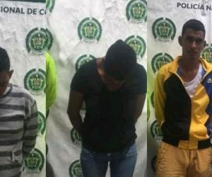 Personas capturadas en Cerro de San Antonio y Pivijay.
