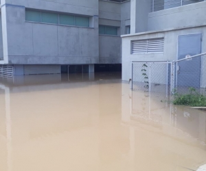 Así quedó la Universidad Antonio Nariño, en la sede de Santa Marta.
