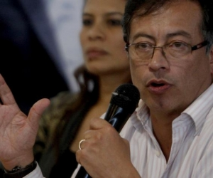 El senador y expresidente presidencial Gustavo Petro.,