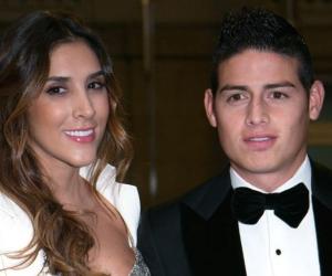 Daniela Ospina y James Rodríguez.