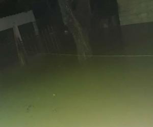 Inundaciones en el barrio Villa del Carmen.