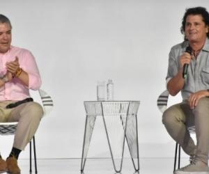 El presidente Iván Duque y el cantante Carlos Vives.