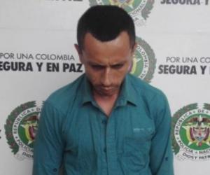 El capturado Yeison Alexander Morales.