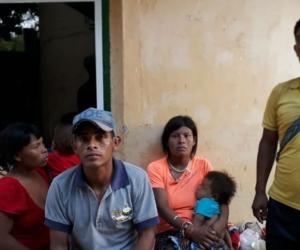 La familia indígena Yukpas.