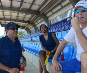 Los empresarios visitaron los diferentes escenarios deportivos.