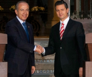 El expresidente de México, Felipe Calderón y el actual mandatario, Enrique Peña Nieto.