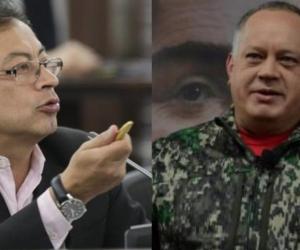 Gustavo Petro y Diosdado Cabello.