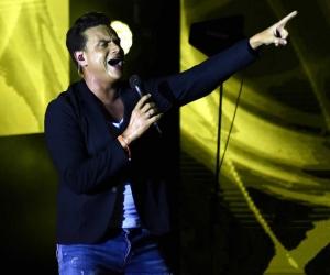 Silvestre Dangond en una de sus presentación en el Festival Vallenato.
