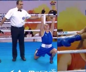 Yeni Arias, a la izquierda, ganó; mientras que Íngrit Valencia, a la derecha, perdió su combate.