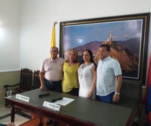 Aarón, Marín, Pertuz y Orozco, representan la nueva Mesa Directiva de la Asamblea Departamental del Magdalena.