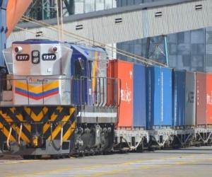 Tren cargado de café llegó al Puerto de Santa Marta, proveniente de La Dorada, Caldas.