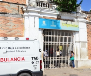 Hospital de Barranquilla, donde fue atendido el menor baleado.