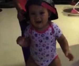 La pequeña Kynasha, hija del cantante Kevin Flórez.