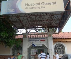 El delincuente herido llegó por sus medios al Hospital General de Barranquilla.