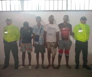 Los capturados tenían orden de captura por el delito de tráfico´, fabricación y porte de estupefacientes.