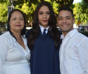 Andrea Mejía, Marieth Díaz y Luis Mejía
