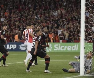 Cabezazo de Teófilo Gutiérrez para empatar el partido.