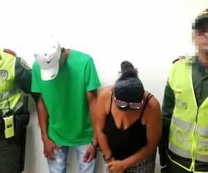 Los capturados Bonoli Biliado Anaya y Shirley Esther Ospino Pardo.