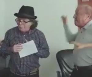 Agresión de Rodolfo Hernández a Jhon Claro.