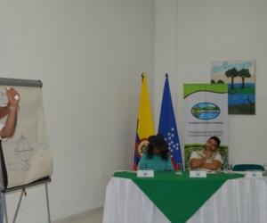 Jorge Diazgranados hablando de la importancia del agua.