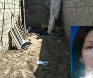 En el patio de su casa fue encontrada enterrada María De la Cruz Otálora Pérez, quien aparece en el recuadro.