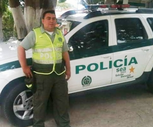 Willi Sabier Rhenals Martínez, patrullero fallecido.