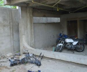 Estas son las motocicletas que se encuentran en el Puesto de Salud de Mamatoco.