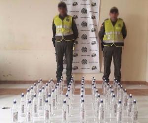 Las botellas de licor fueron dejadas a disposición de la Oficina de Rentas de la Gobernación del Magdalena