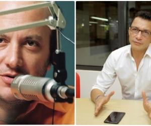 Julio Sánchez Cristo y Carlos Caicedo.