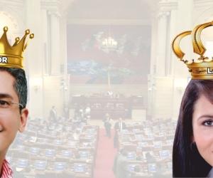 Franklin Lozano (izq) y Kelyn González (der) se llevan la corona a los peores candidatos del Magdalena que quieren repetir curul.