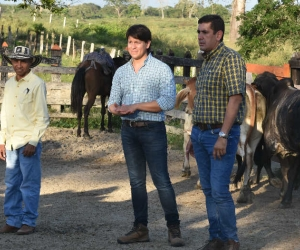 Nelson Calderon en compañía de Rubén Jiménez.